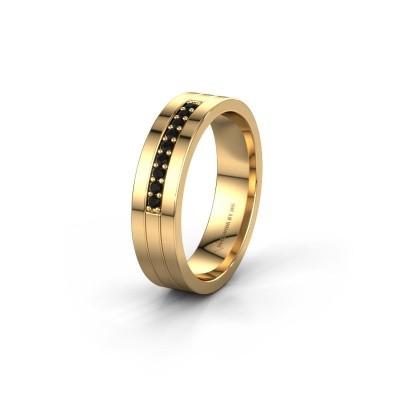 Trouwring WH0413L15AP 585 goud zwarte diamant ±5x1.7 mm