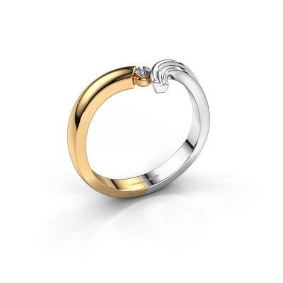 Foto van Ring Tish 585 goud diamant 0.045 crt