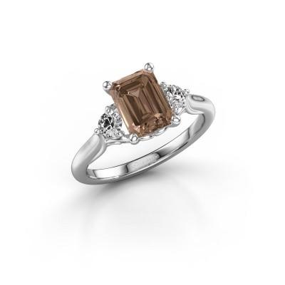 Foto van Verlovingsring Laurian EME 925 zilver bruine diamant 1.99 crt