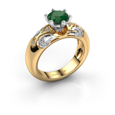 Ring Maya 585 goud smaragd 6.5 mm