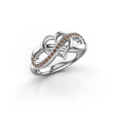 Foto van Ring Yael 925 zilver bruine diamant 0.147 crt