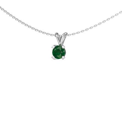 Foto van Hanger Eva 925 zilver smaragd 5 mm