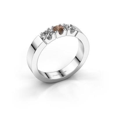 Foto van Verlovingsring Dana 3 585 witgoud bruine diamant 0.450 crt
