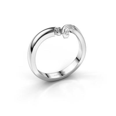 Foto van Ring Tish 585 witgoud lab-grown diamant 0.045 crt