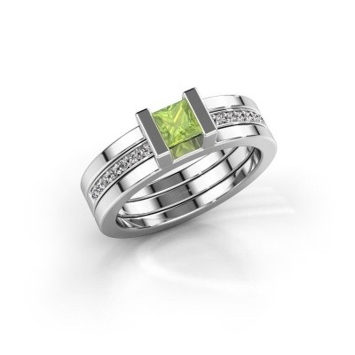 Picture of Ring Desire 585 white gold peridot 4 mm