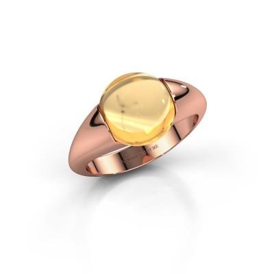 Foto van Ring Robine 375 rosé goud citrien 10 mm