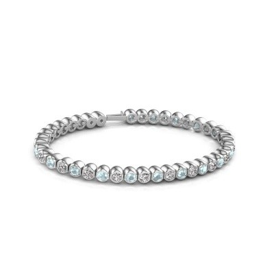 Photo de Bracelet tennis Mellisa 585 or blanc diamant synthétique 7.200 crt