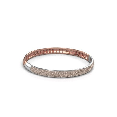 Foto van Armband Emely 6mm 585 rosé goud bruine diamant 2.013 crt