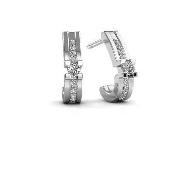 Foto van Oorbellen Myrthe 925 zilver lab-grown diamant 0.20 crt