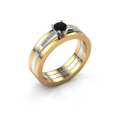 Verlobungsring Celeste 585 Weißgold Schwarz Diamant 0.325 crt