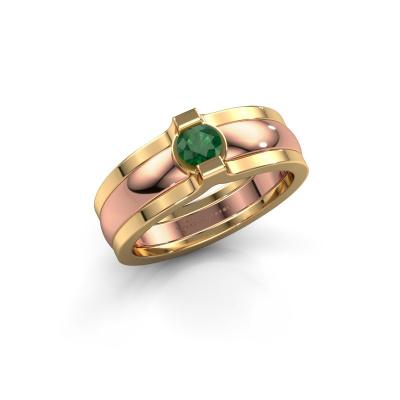 Ring Jade 585 Roségold Smaragd 4 mm