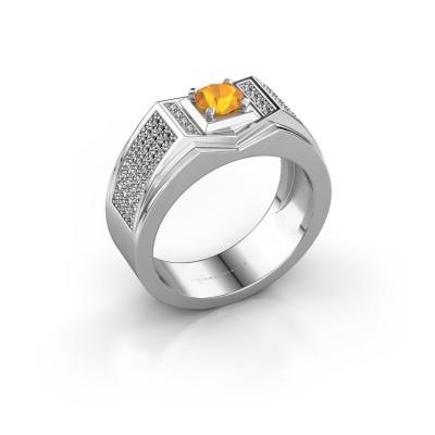 Foto van Heren ring Marcel 375 witgoud citrien 5 mm