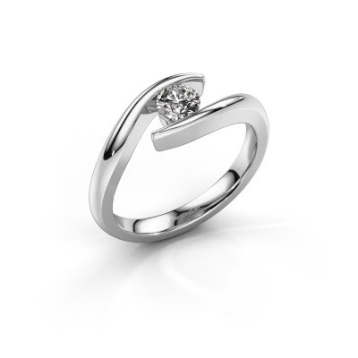 Foto van Aanzoeksring Alaina 950 platina diamant 0.30 crt