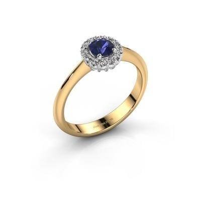 Verlovingsring Anca 585 goud saffier 4.2 mm