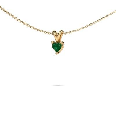 Foto van Ketting Garnet 585 goud smaragd 4 mm