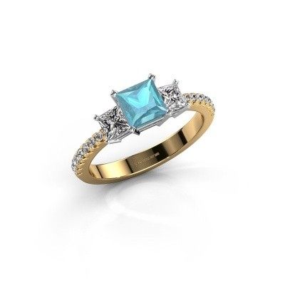 Engagement ring Dorla 585 gold blue topaz 5 mm
