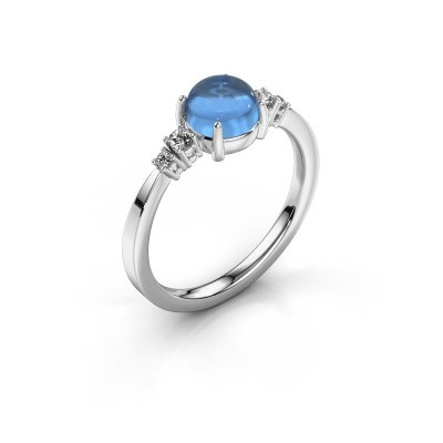 Ring Regine 950 platinum blue topaz 6 mm