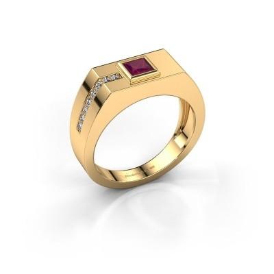Foto van Heren ring Robertus 1 585 goud rhodoliet 4 mm