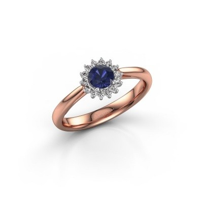 Engagement ring Tilly RND 1 585 rose gold sapphire 4.2 mm