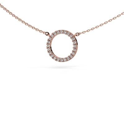 Pendentif Circle 375 or rose zircone 1.2 mm