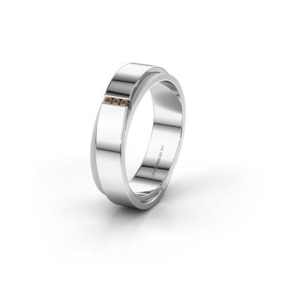 Ehering WH6012LX6A 585 Weißgold Braun Diamant ±6x1.7 mm