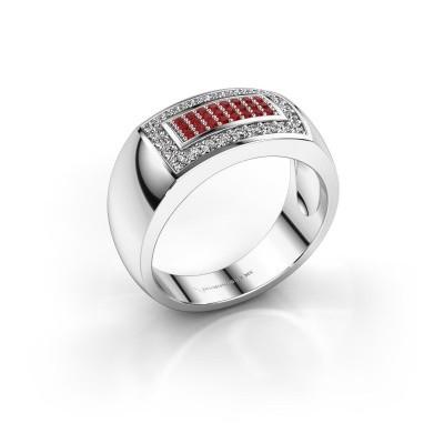 Foto van Mannen ring Lorenzo 925 zilver robijn 1.1 mm