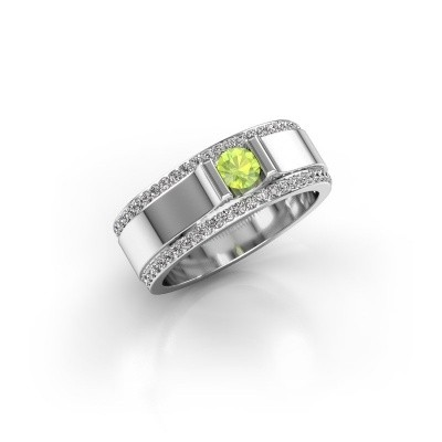 Men's ring Danillo 950 platinum peridot 4.2 mm