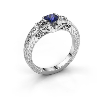 Picture of Promise ring Tasia 925 silver sapphire 5 mm