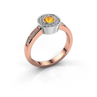 Foto van Ring Adriana 2 585 rosé goud citrien 4 mm