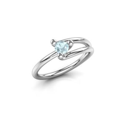 Picture of Engagement ring Roosmarijn 950 platinum aquamarine 4 mm