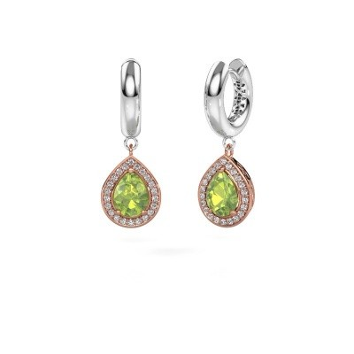 Picture of Drop earrings Barbar 1 585 rose gold peridot 8x6 mm