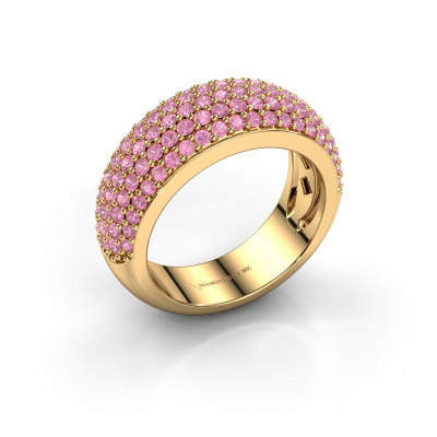 Ring Cristy 585 gold pink sapphire 1.2 mm