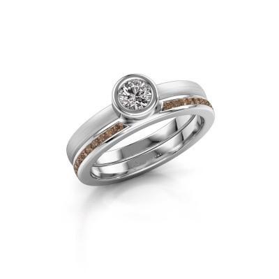Bild von Ring Cara 950 Platin Braun Diamant 0.62 crt