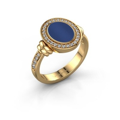 Zegelring Frido F 585 goud lapis lazuli 10x8 mm