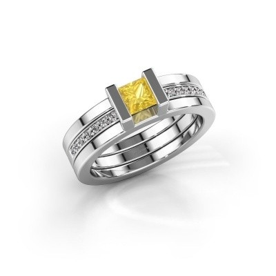 Picture of Ring Desire 585 white gold yellow sapphire 4 mm