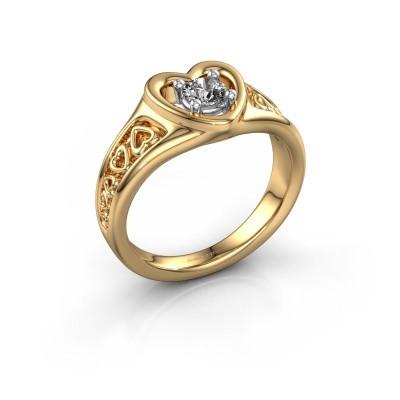 Foto van Ring Eura 585 goud diamant 0.25 crt