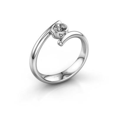 Foto van Ring Mary 585 witgoud lab-grown diamant 0.25 crt