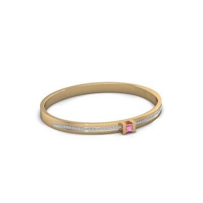 Foto van Armband Desire 585 goud roze saffier 4 mm