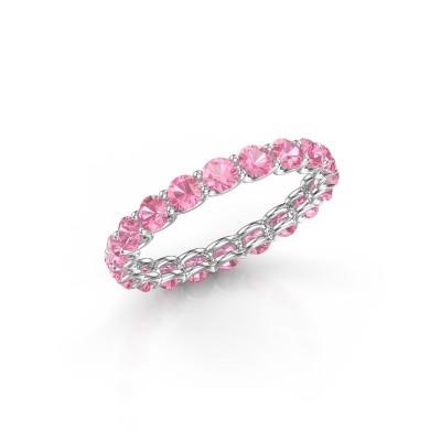 Foto van Ring Kirsten 2.9 950 platina roze saffier 2.9 mm