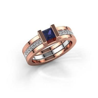 Picture of Ring Desire 585 rose gold sapphire 4 mm