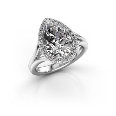 Foto van Verlovingsring Elenore 925 zilver diamant 3.288 crt