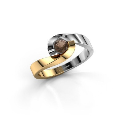 Picture of Ring Sheryl 585 gold smokey quartz 4 mm