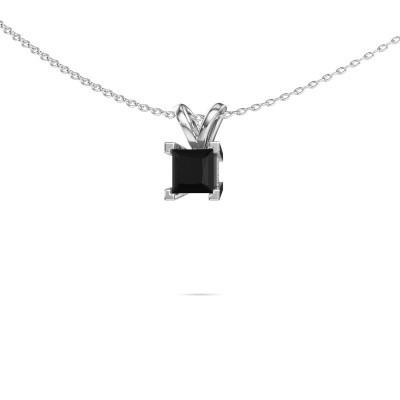 Foto van Hanger Ariane 950 platina zwarte diamant 0.936 crt