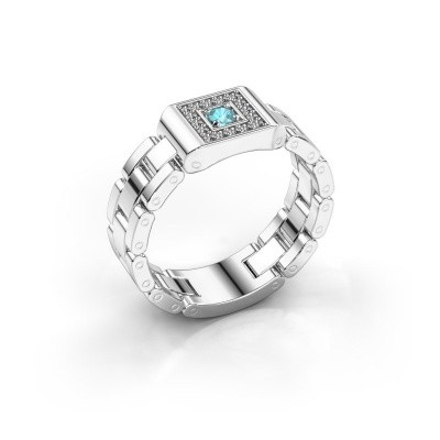 Picture of Men's ring Giel 585 white gold blue topaz 2.7 mm