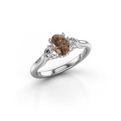 Foto van Verlovingsring Laurian OVL 950 platina bruine diamant 1.00 crt