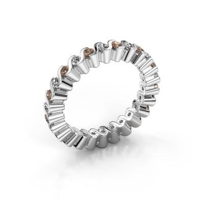 Bague superposable Faye 925 argent diamant brun 0.78 crt