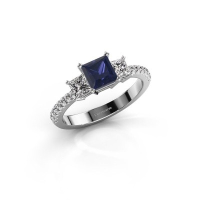 Engagement ring Dorla 925 silver sapphire 5 mm
