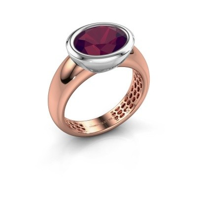 Picture of Ring Evelyne 585 rose gold rhodolite 10x8 mm