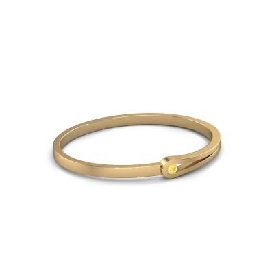 Slavenarmband Kiki 585 goud gele saffier 4 mm