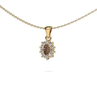 Foto van Ketting Leesa 375 goud bruine diamant 1.60 crt
